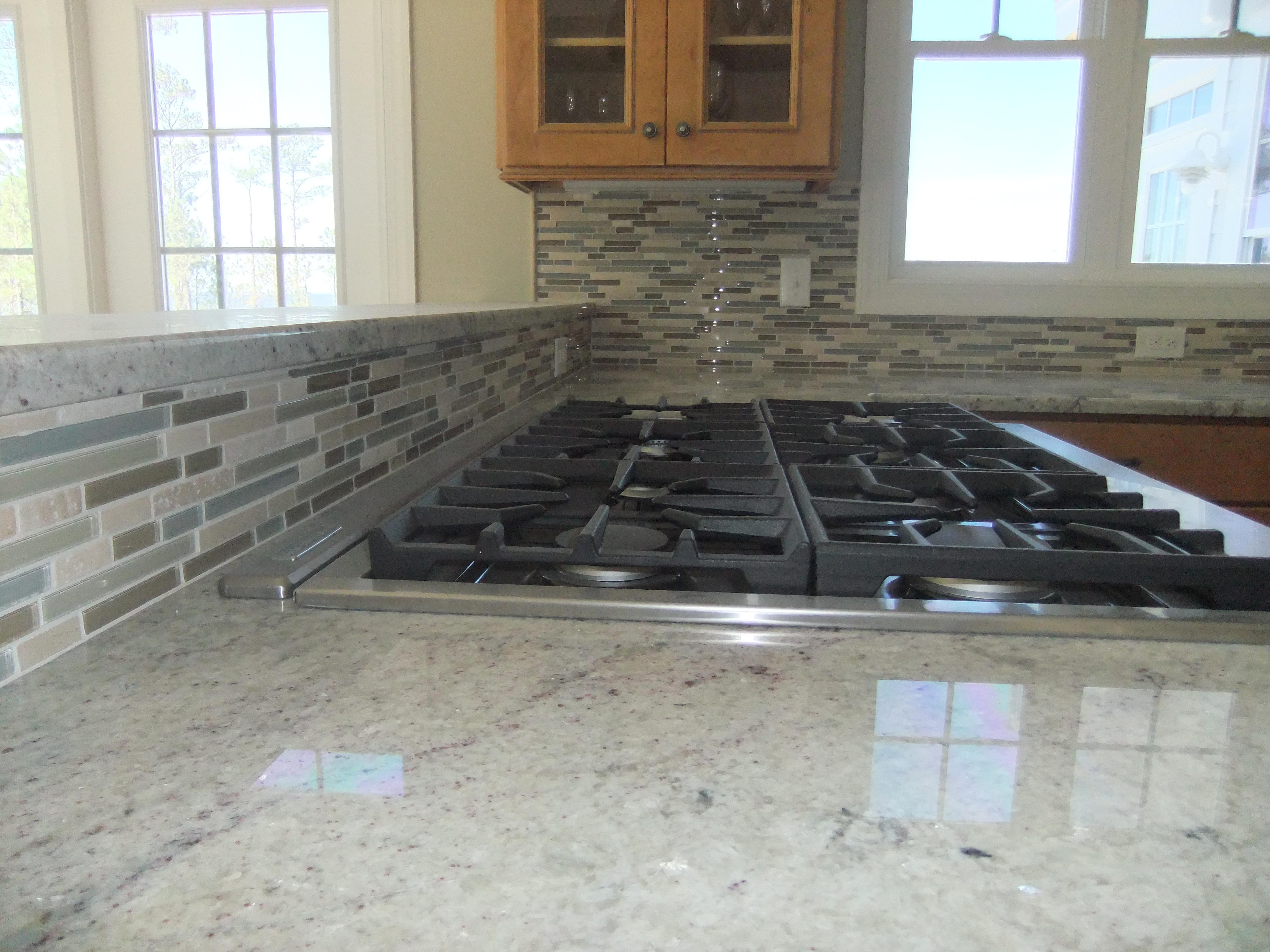 Image of: Beautiful Stacked Stone Backsplash Tile Ideas