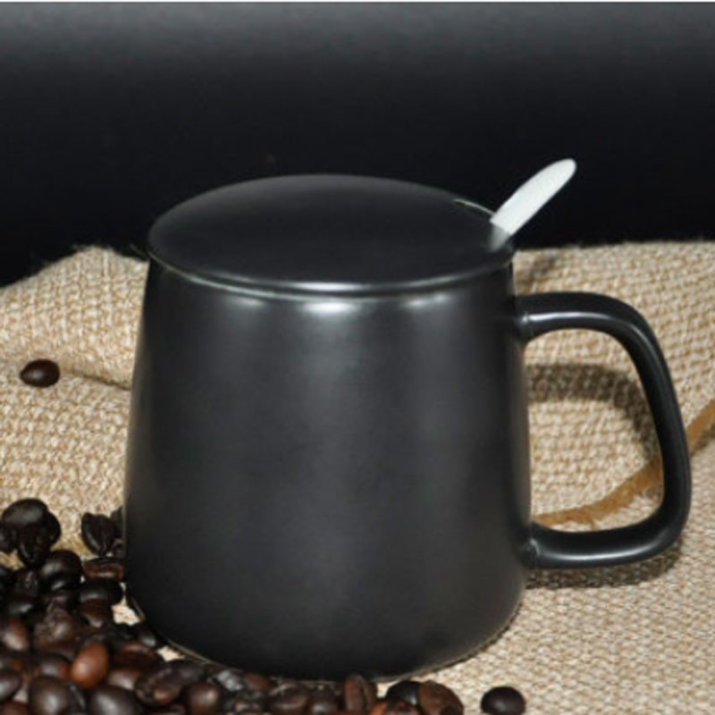 Black Ceramic Travel Mug
