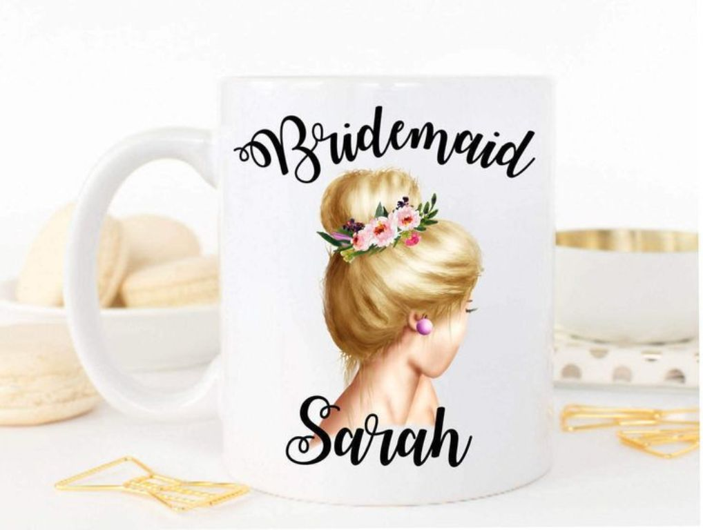 Image of: Bridesmaid Mug Gift
