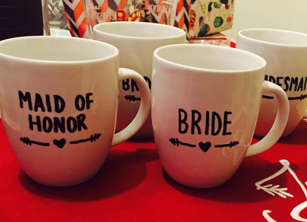 Image of: Bridesmaid Mug Idea