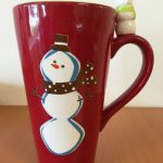 Brown Snowman Coffee Mug