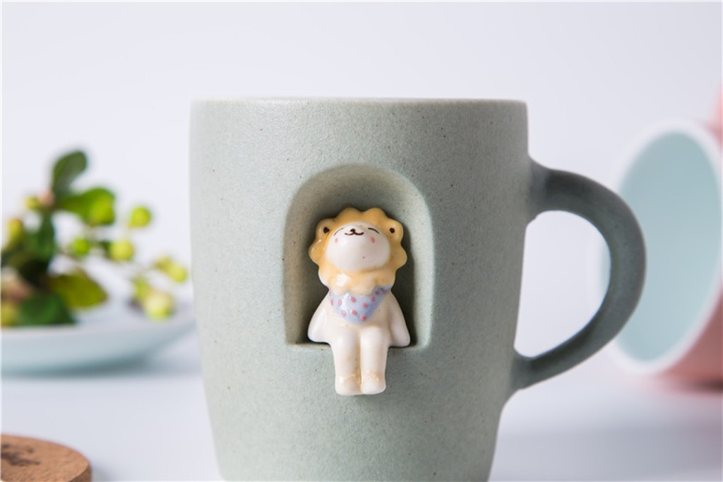 Image of: Bulldog Coffee Mug and Spoon