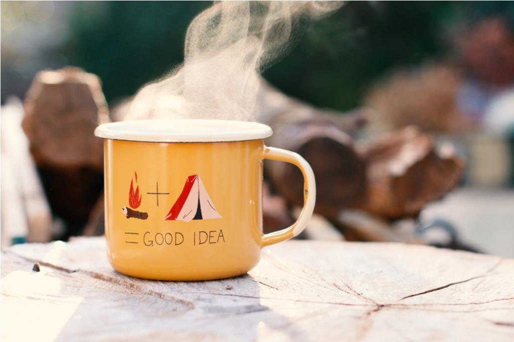 Image of: Camping Mug Coffee Plunger