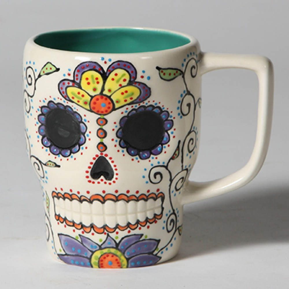 Image of: Ceramic Skull Mug