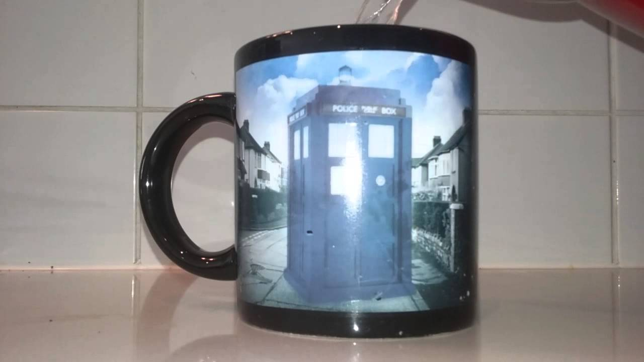 Image of: Ceramic Tardis Mug