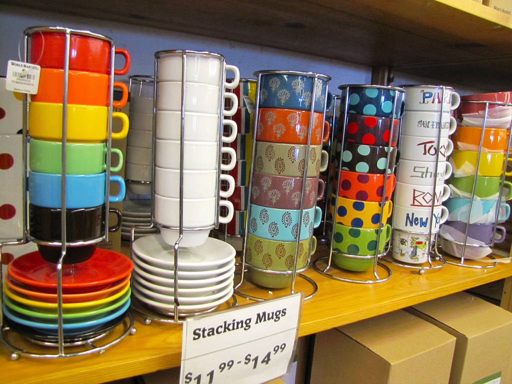 Image of: Colorful Stacking Mugs