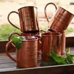 Contemporary Copper Mug Bar