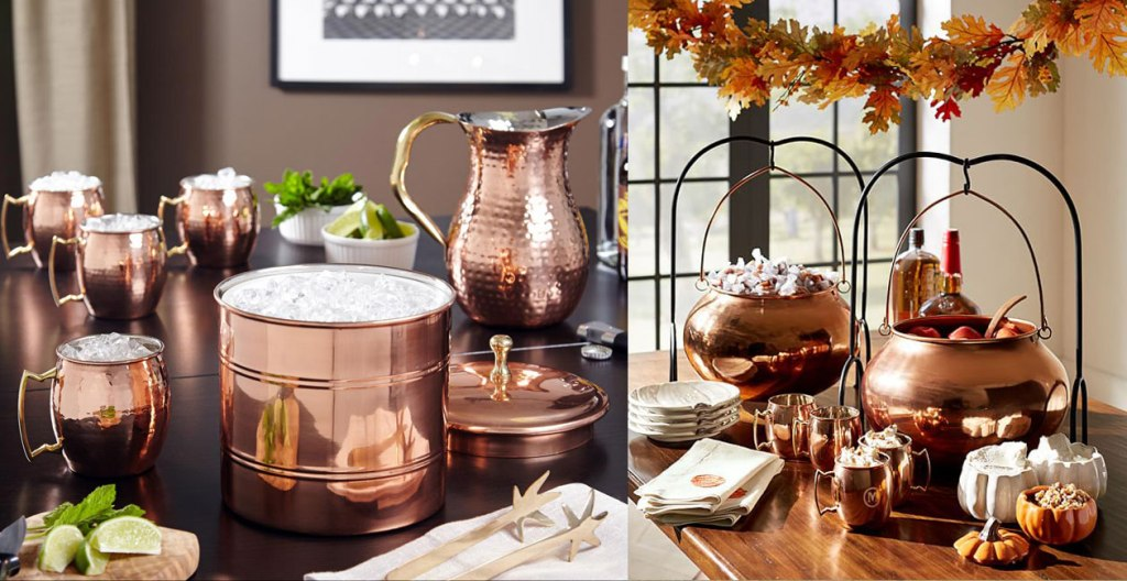 Image of: Copper Mug Bar Set Ideas