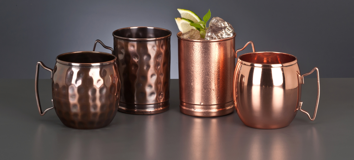 Image of: Copper Mule Mugs Shapes