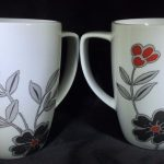 Corelle Mugs Flowers