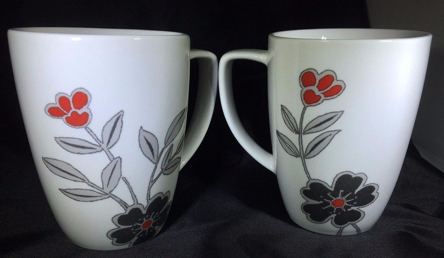 Image of: Corelle Mugs Flowers