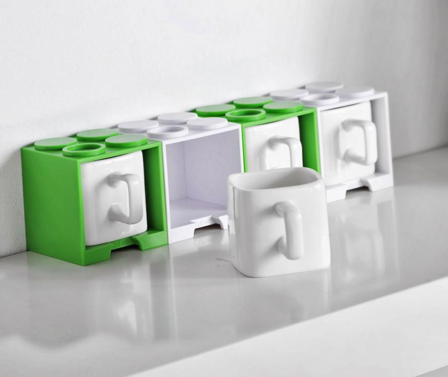 Image of: Cube Stackable Mugs