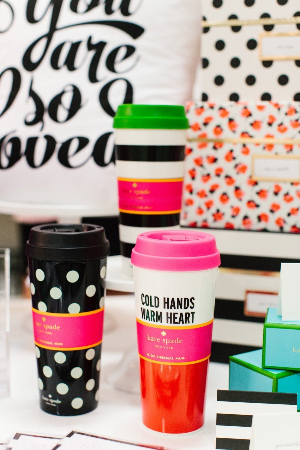 Image of: Cute Thermal Mugs Polka Dot