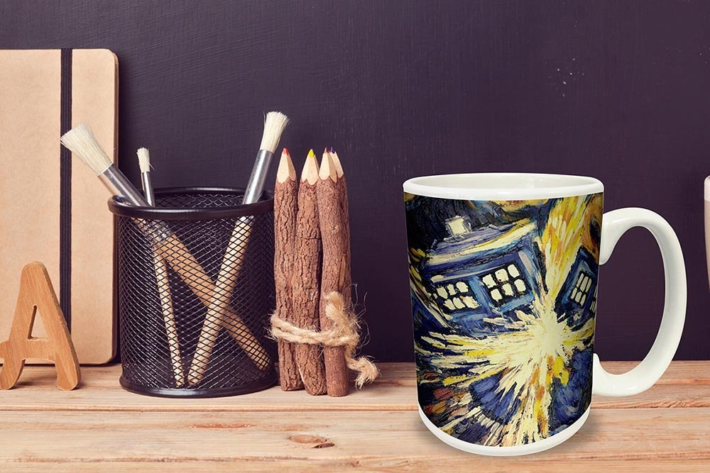 Image of: Doctor Who Figural Tardis Mug 17 Oz