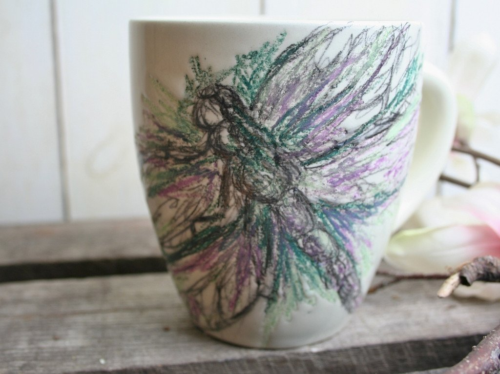 Image of: Dragonfly Coffee Mugs Blue