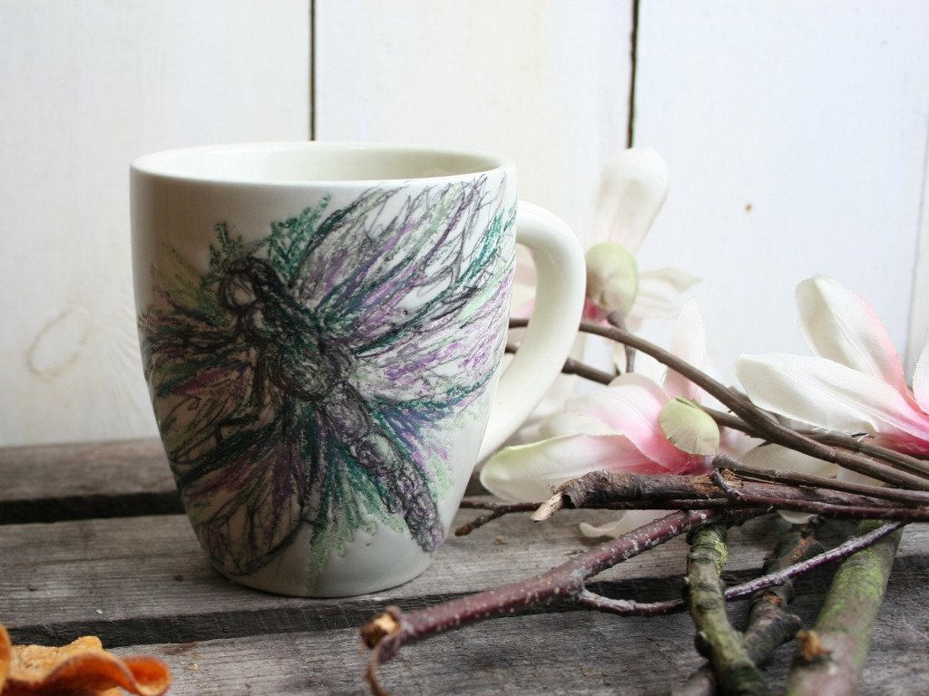 Image of: Dragonfly Coffee Mugs and Cups