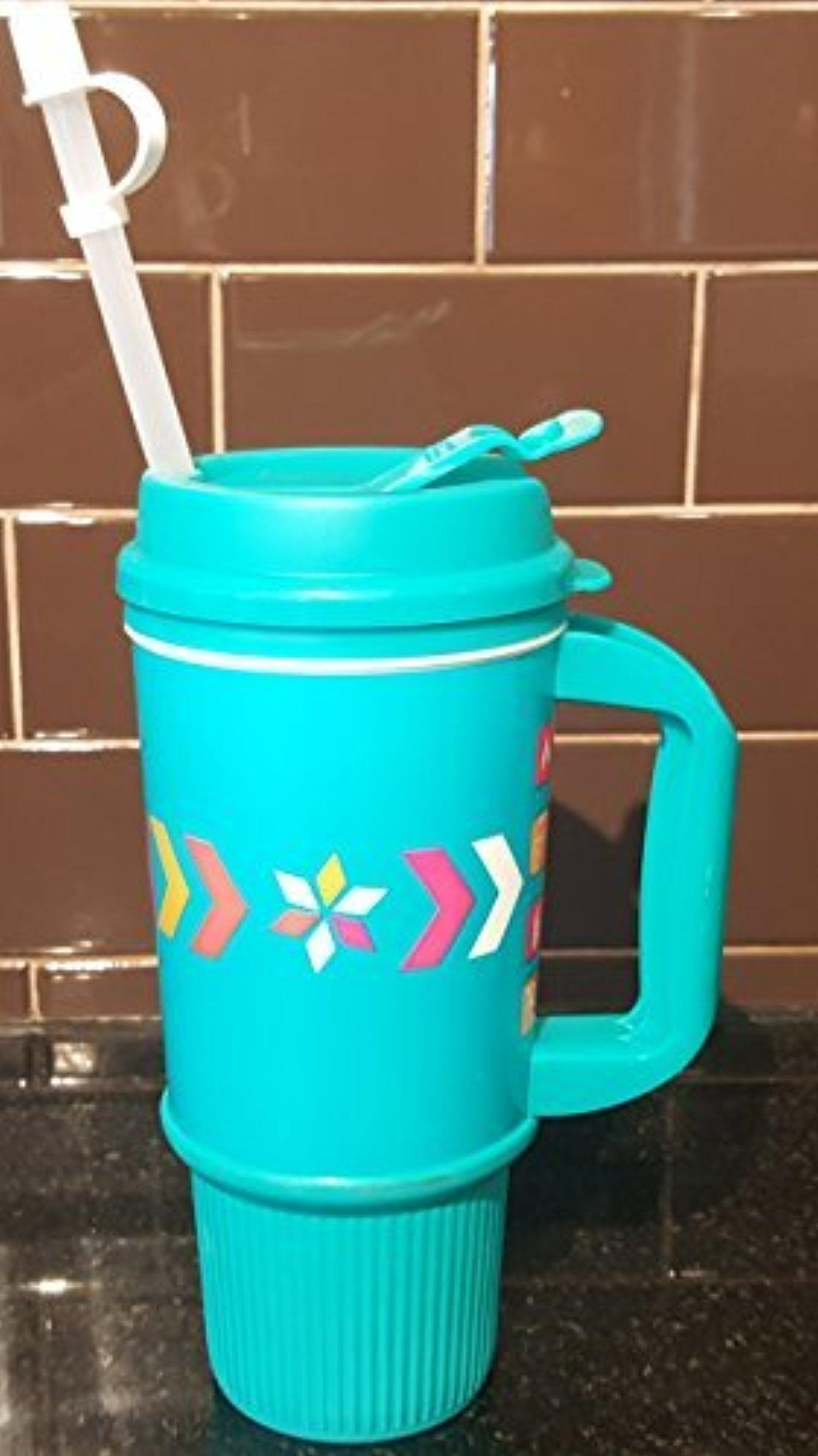 Image of: Dunkin Donuts Travel Mug Blue