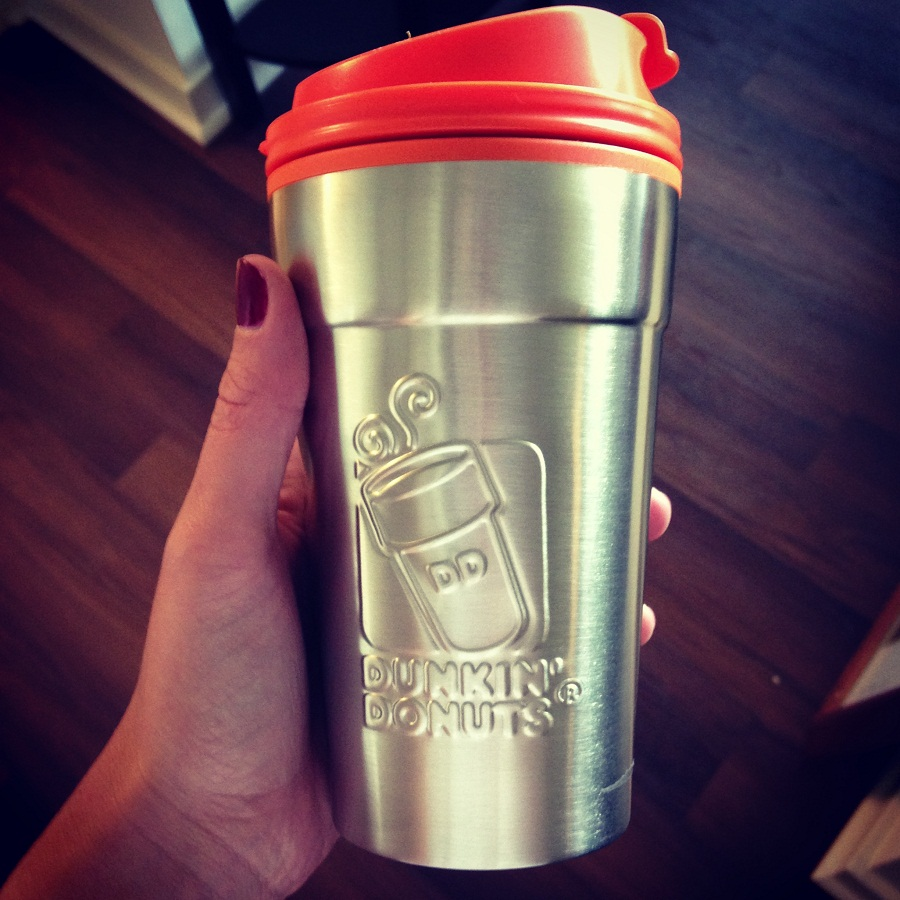 Image of: Dunkin Donuts Travel Mug Material