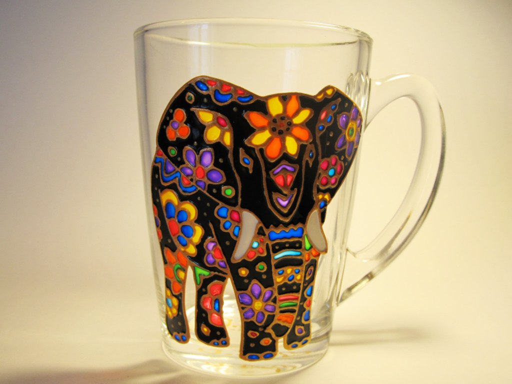 Image of: Elephant Coffee Mug Art