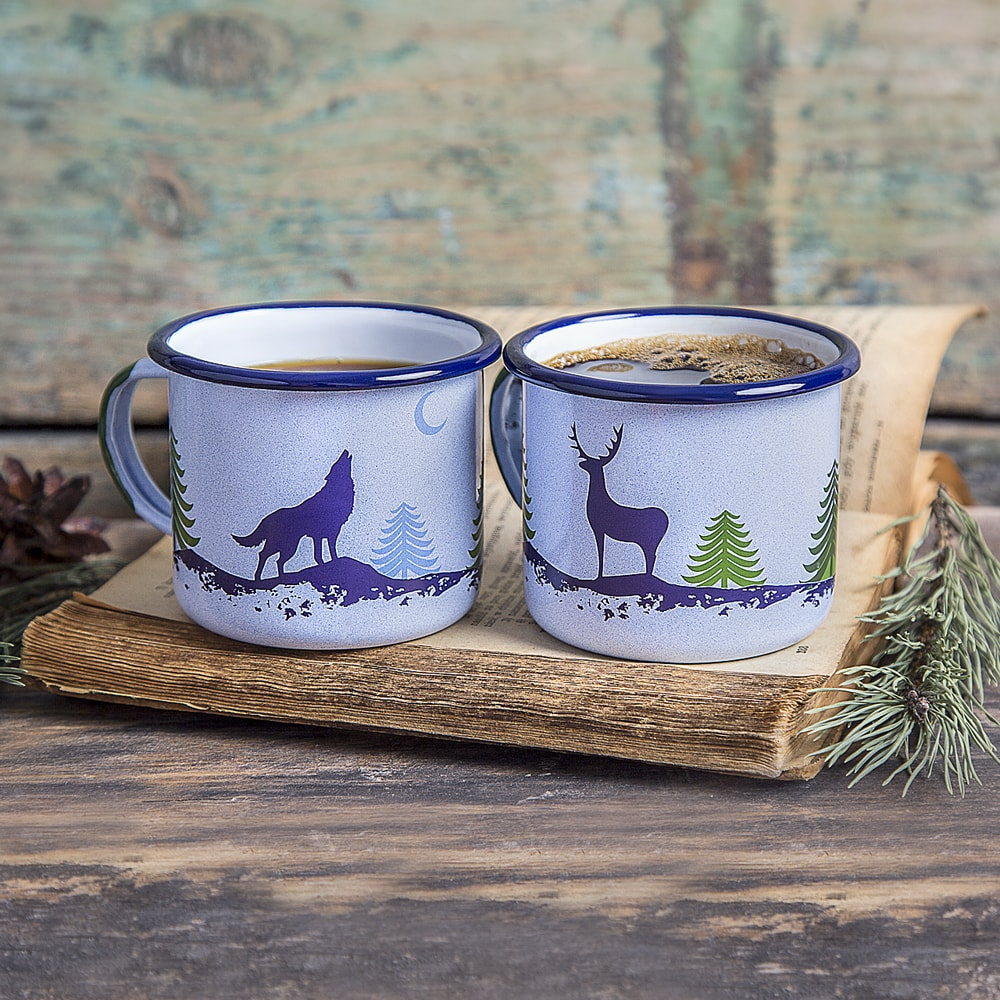 Image of: Enamel Mugs Sets
