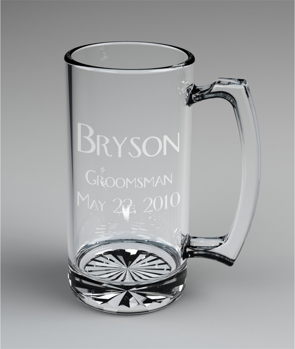 Engraved Beer Mugs Material