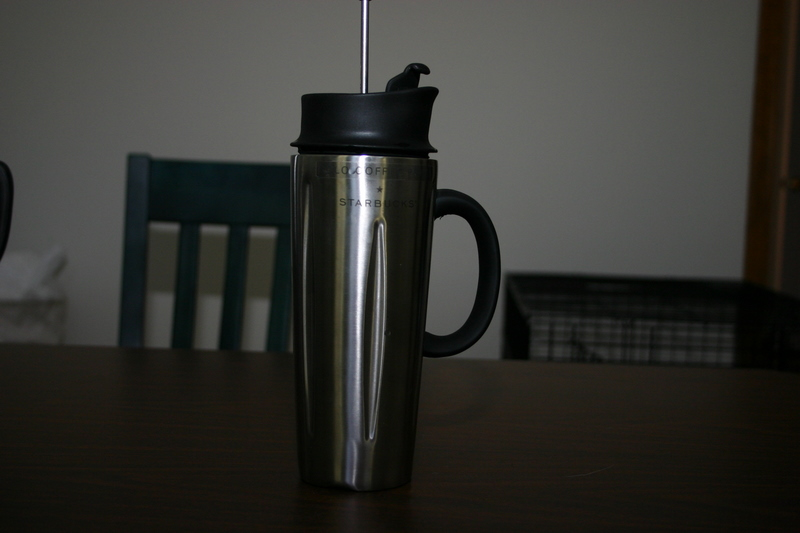 Image of: French Press Travel Mug Stainless