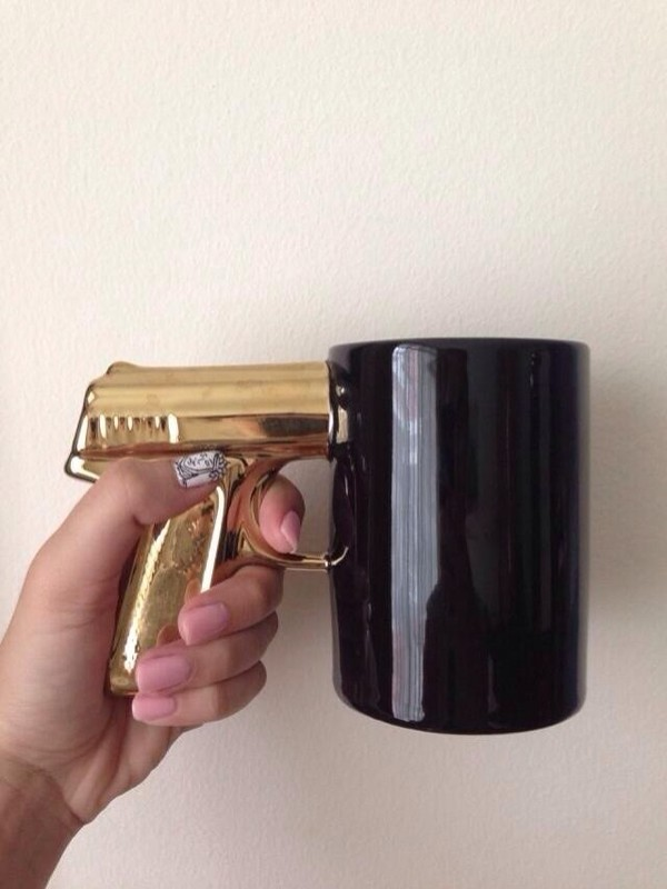 Image of: Gold Gun Mug