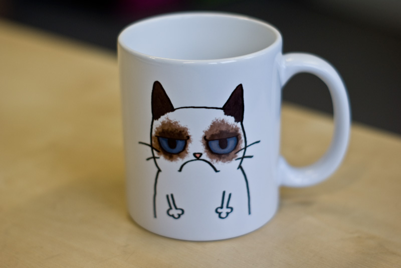 Image of: Grumpy Cat Mug Designs