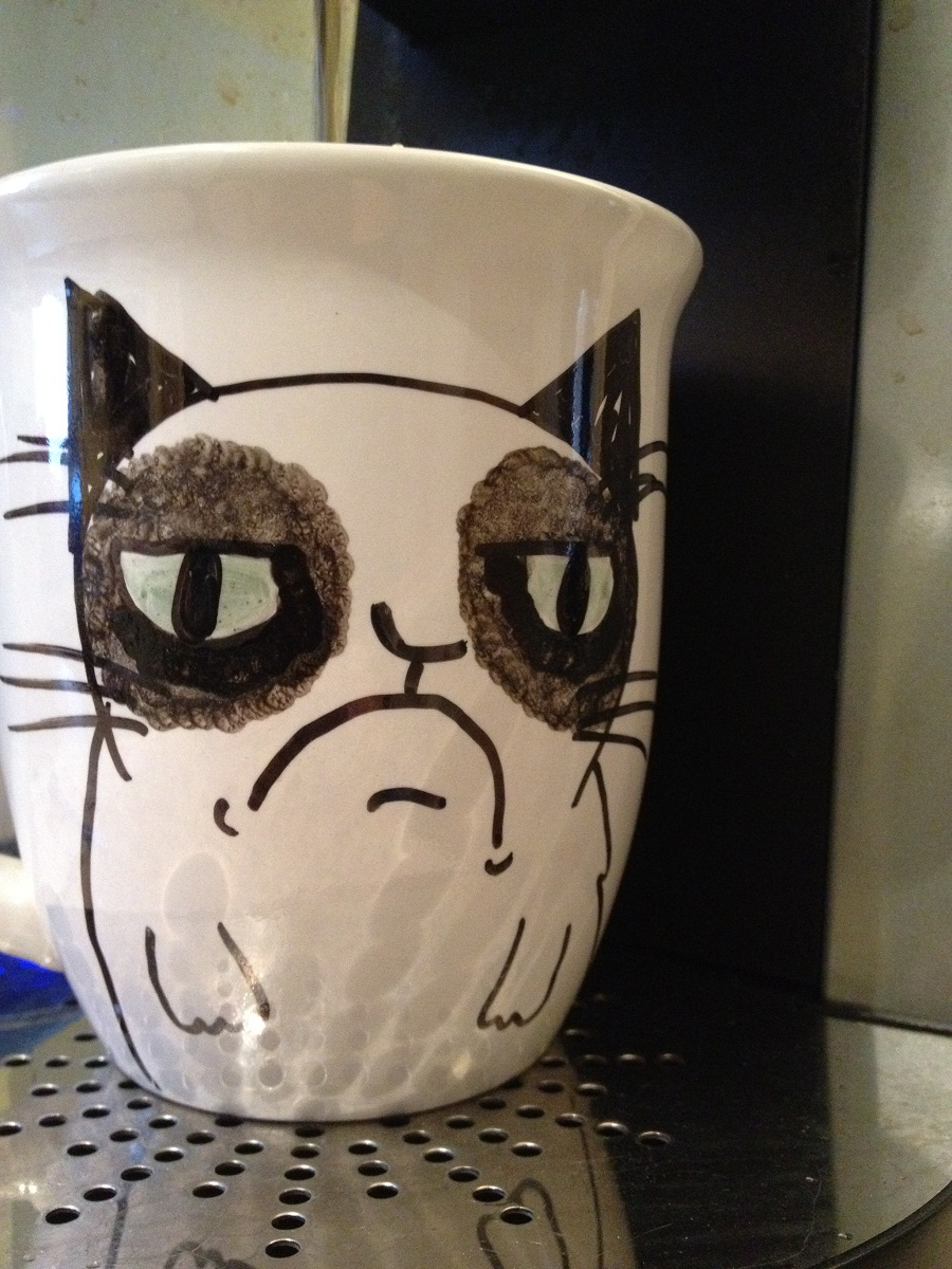 Image of: Grumpy Cat Mug Shapes