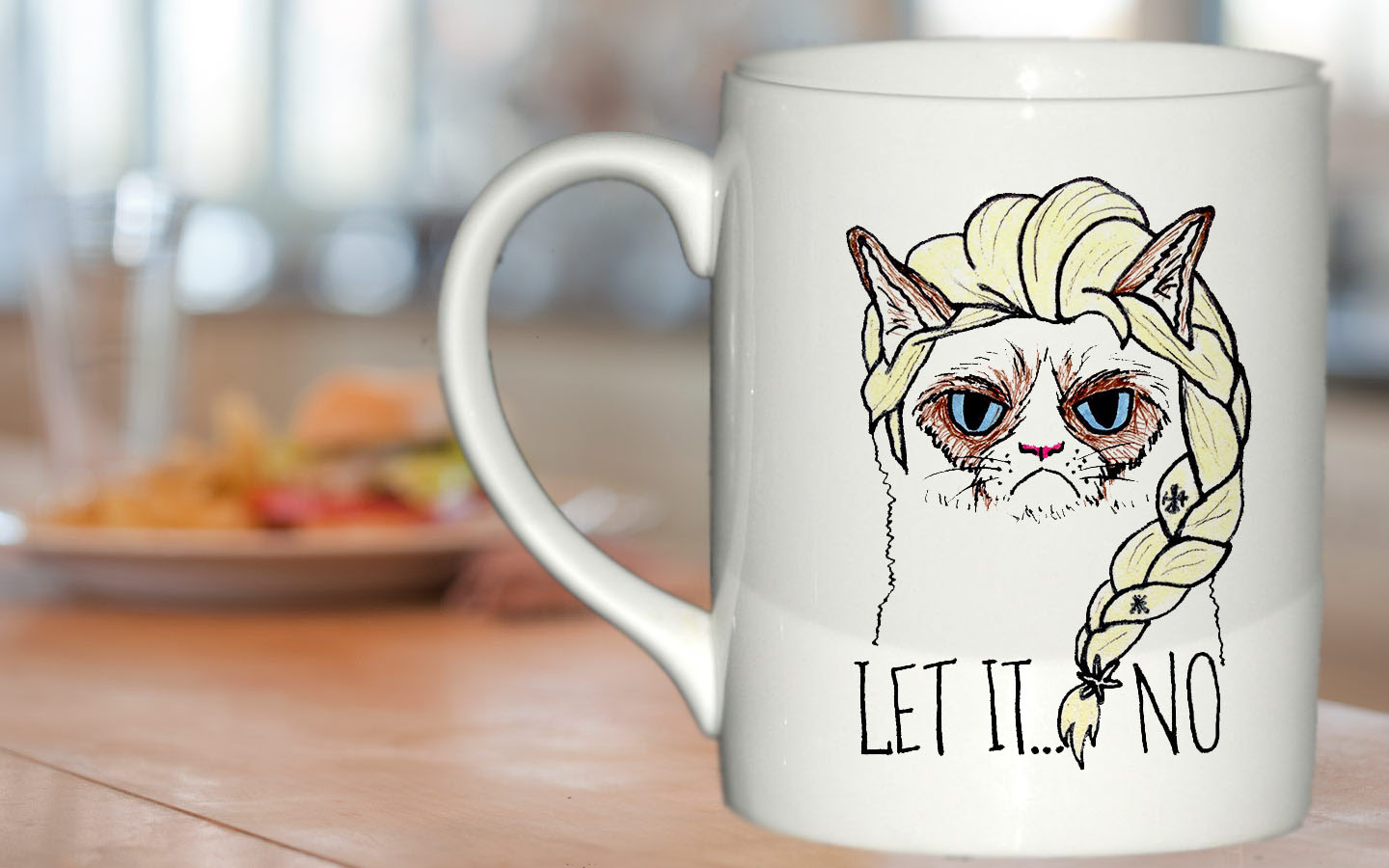Image of: Grumpy Cat Mug Size