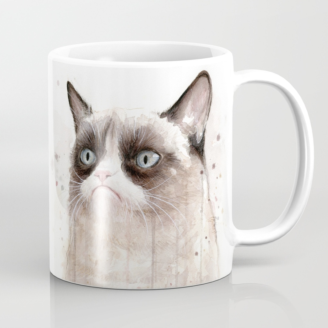 Image of: Grumpy Cat Mug White