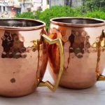 Hammered Copper Mugs and Pitcher