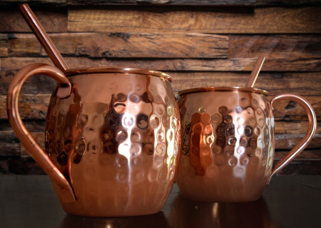 Image of: Hammered Copper Mugs for Moscow Mule