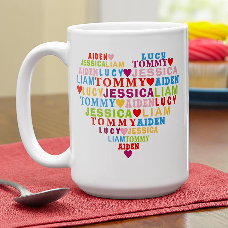 Image of: Heart Full Customizable Mugs