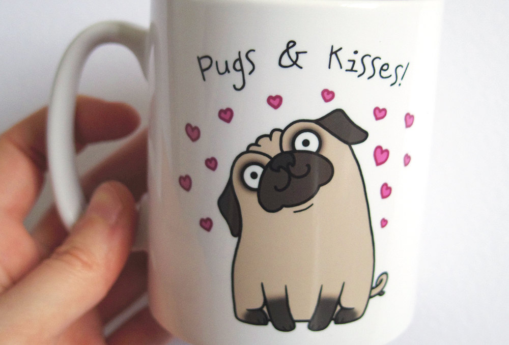 Image of: How to Draw a Pug Mug