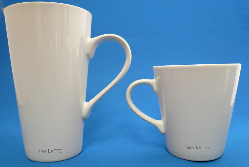 Image of: Latte Mugs Size