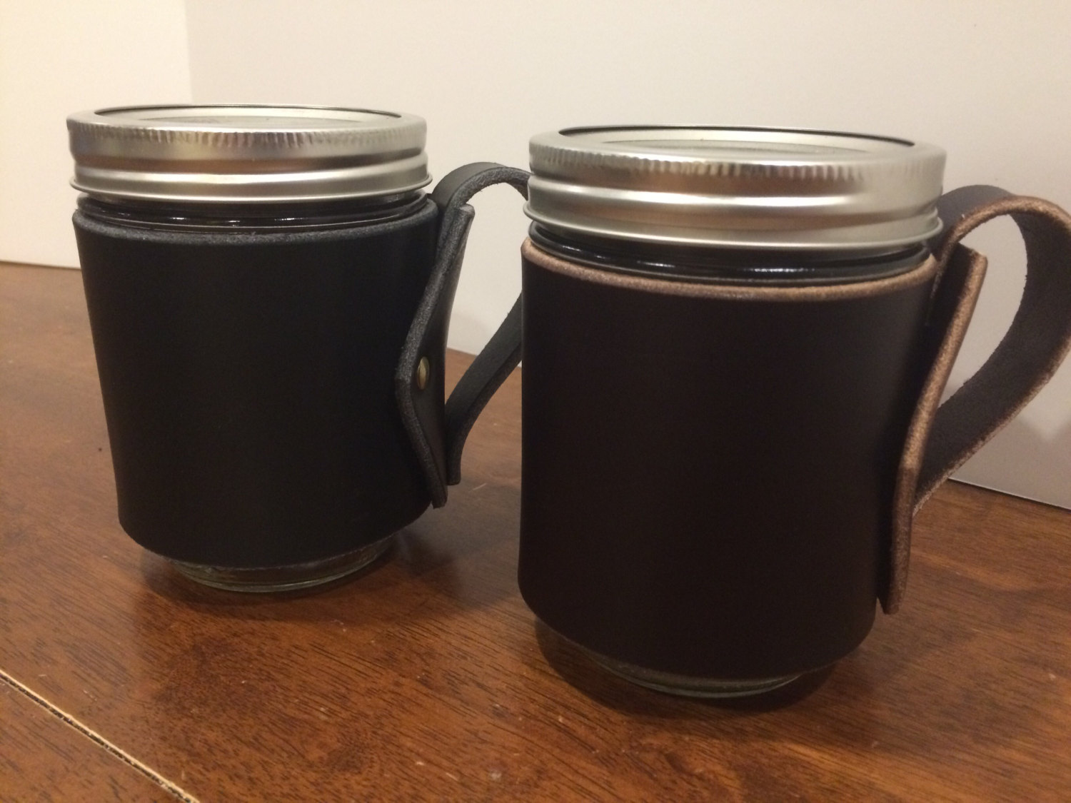 Image of: Mason Jar Coffee Mug Black