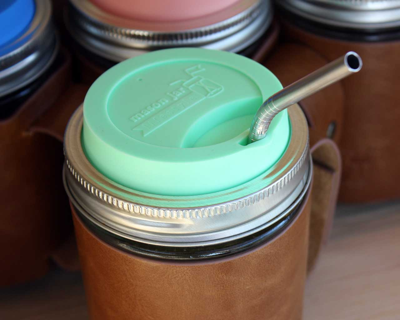 Image of: Mason Jar Coffee Mug Lid