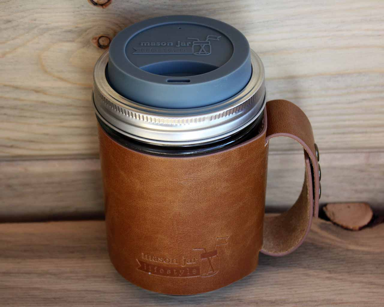 Image of: Mason Jar Coffee Mug Lids
