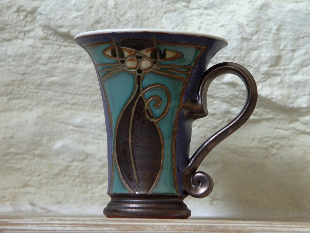 Image of: Mid Century Stoneware Coffee Mugs