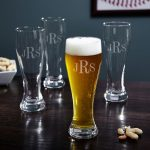 Minimalist Engraved Beer Mugs