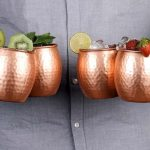 Modern Copper Mug Bar