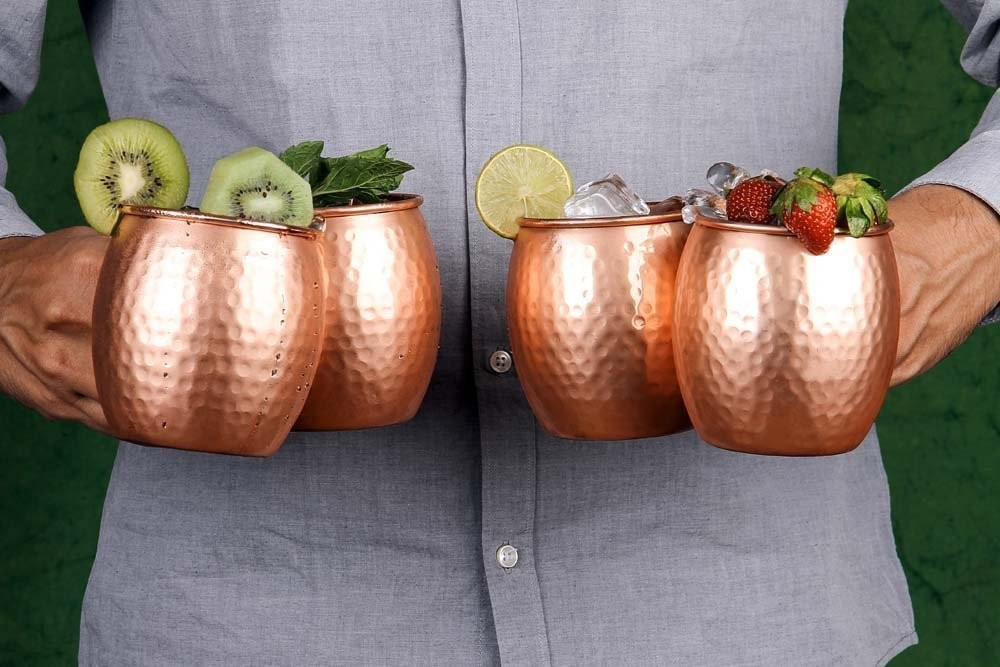 Image of: Modern Copper Mug Bar