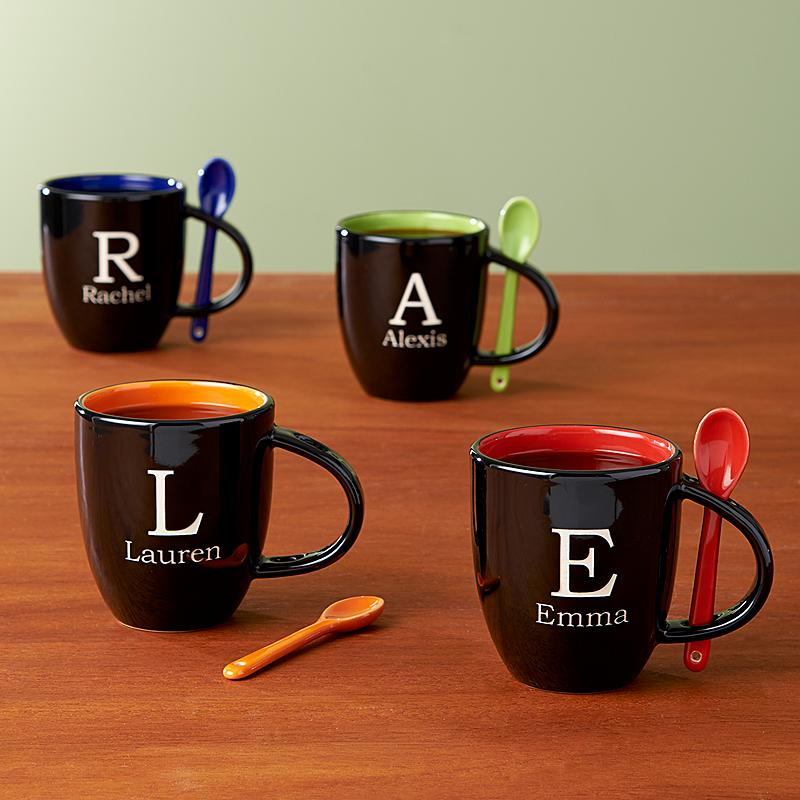 Image of: Monogrammed Coffee Mugs Design