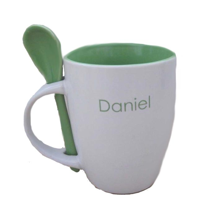Image of: Monogrammed Coffee Mugs Picture