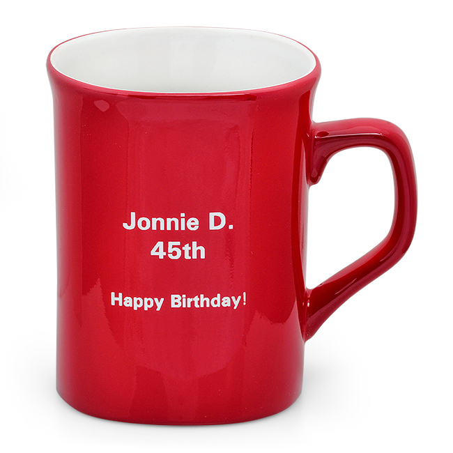 Image of: Monogrammed Coffee Mugs Red
