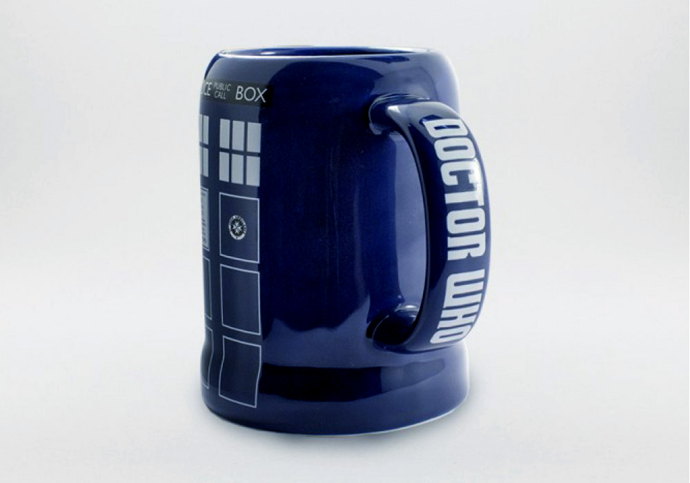 Moving Tardis Mug