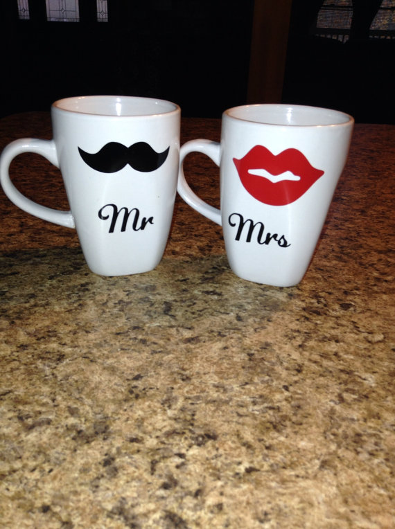 Mr and Mrs Coffee Mugs Beautiful