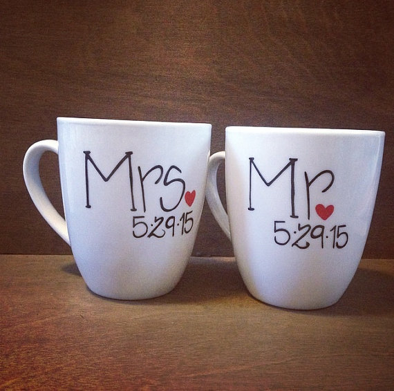 Image of: Mr and Mrs Coffee Mugs Cover