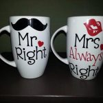 Mr and Mrs Coffee Mugs DIY
